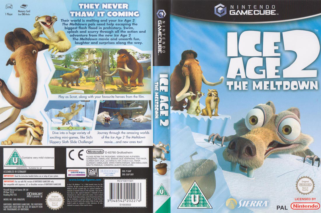 Ice Age 2:The Meltdown Wii coverfullHQ (GIAP7D)