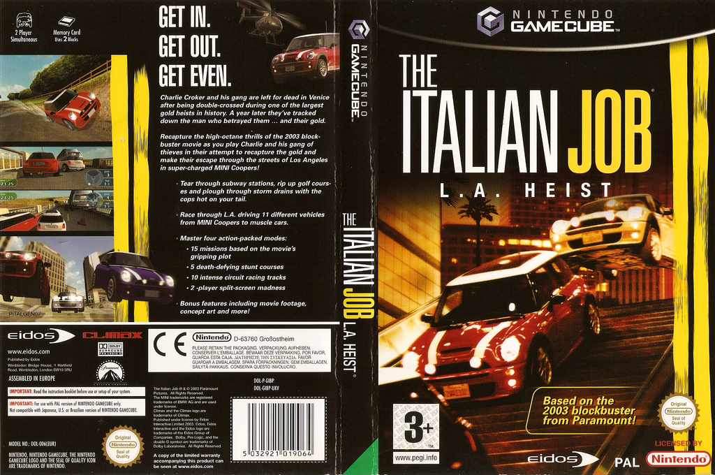 The Italian Job Wii coverfullHQ (GIBP4F)