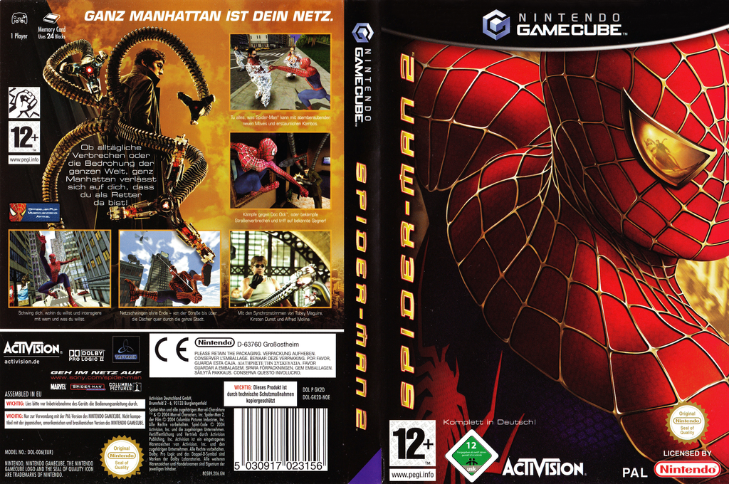 Spider-Man 2 Wii coverfullHQ (GK2D52)