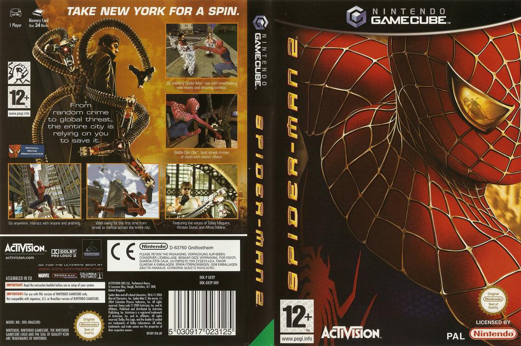 Spider-Man 2 Wii coverfullHQ (GK2P52)