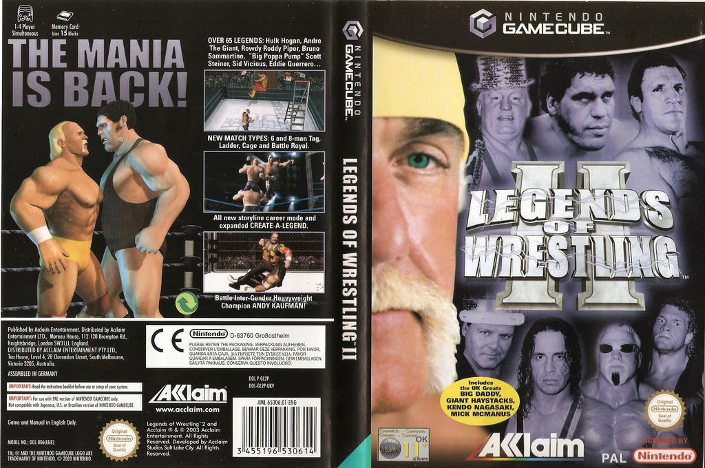 Legends of Wrestling II Wii coverfullHQ (GL2P51)