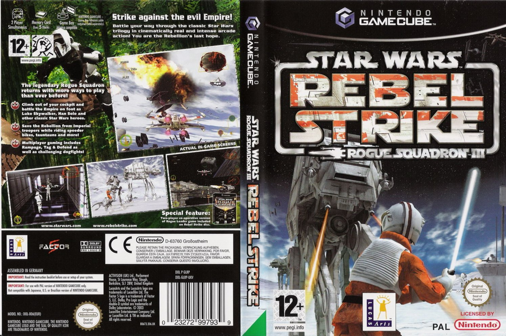 Star Wars Rogue Squadron III: Rebel Strike Wii coverfullHQ (GLRP64)