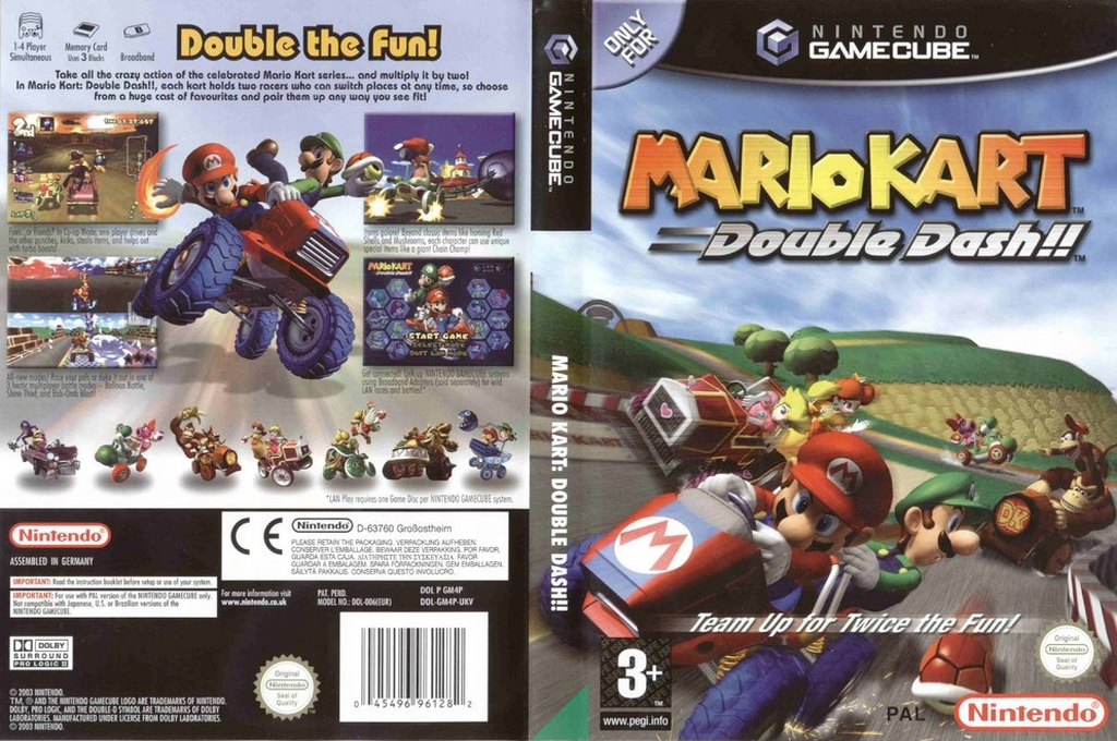 Mario Kart: Double Dash!! Wii coverfullHQ (GM4P01)