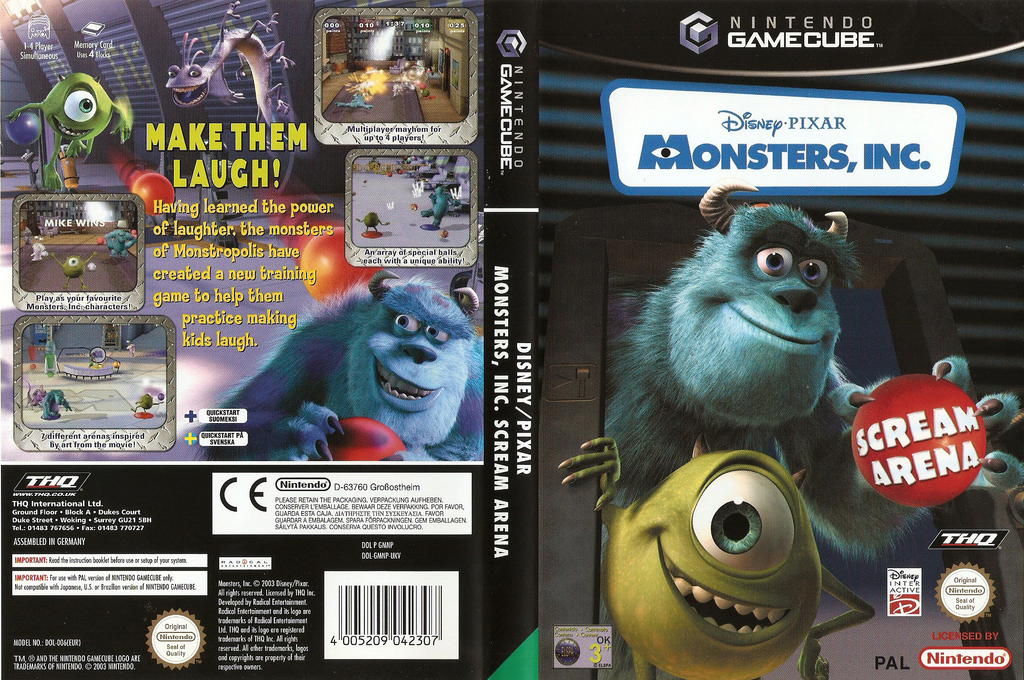 Monsters, Inc. Scream Arena Wii coverfullHQ (GMNP78)