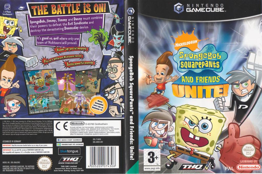 Spongebob Squarepants & Friends:Unite! Wii coverfullHQ (GNOX78)
