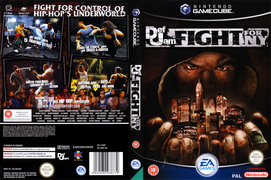 Def Jam: Fight For NY Wii coverfullHQ (GNWP69)