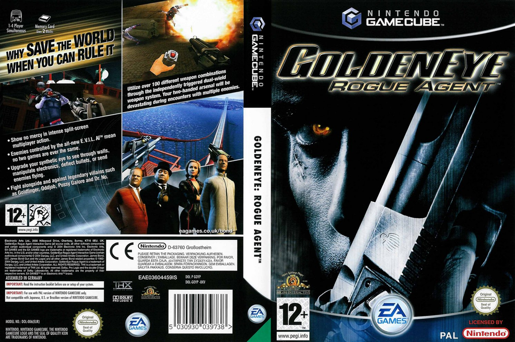 GoldenEye: Rogue Agent Wii coverfullHQ (GOYP69)