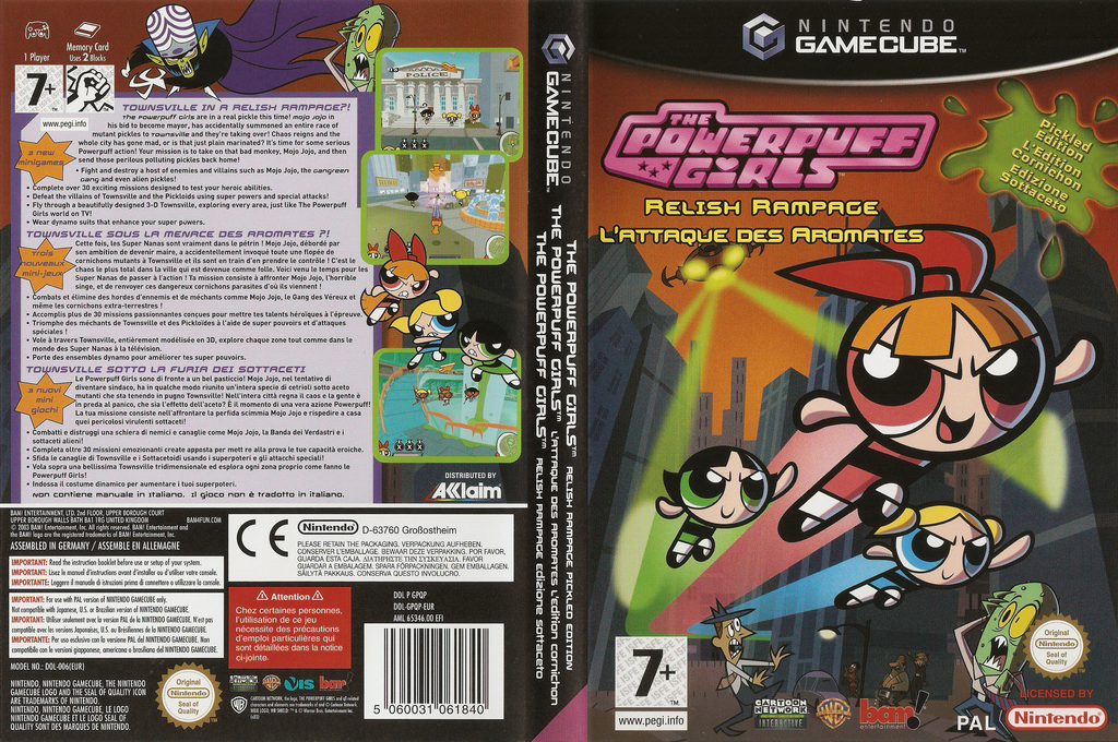 The Powerpuff Girls: Relish Rampage Wii coverfullHQ (GPQP6L)