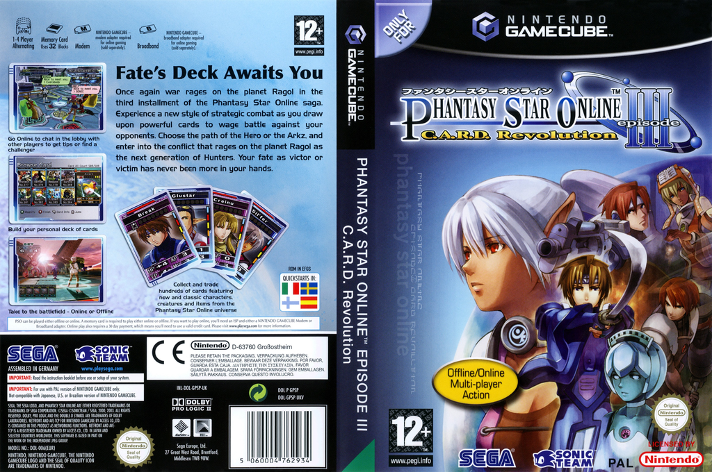Phantasy Star Online Episode III: C.A.R.D. Revolution Wii coverfullHQ (GPSP8P)