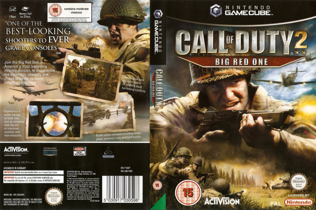 Call of Duty 2: Big Red One Wii coverfullHQ (GQCP52)
