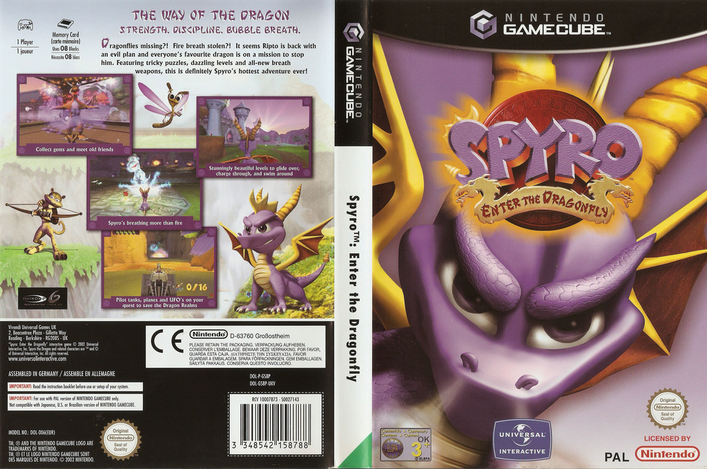 Spyro:Enter the Dragonfly Wii coverfullHQ (GS8P7D)