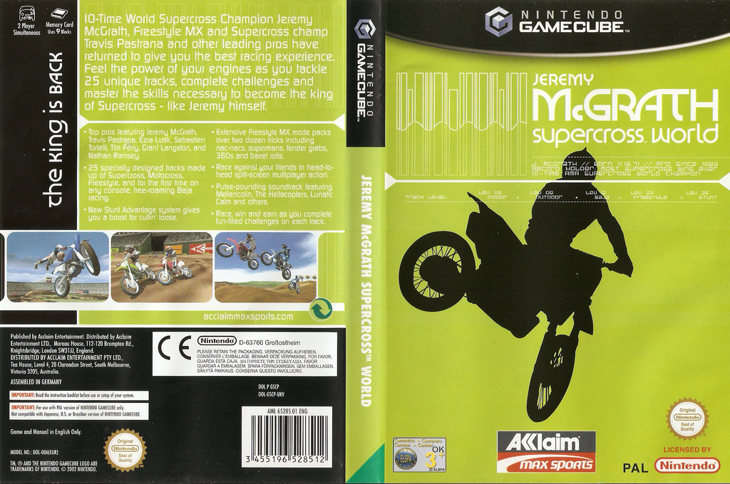 Jeremy McGrath SuperCross World Wii coverfullHQ (GSCP51)