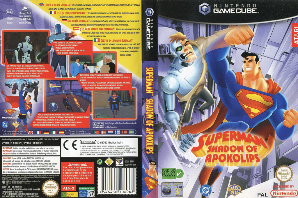 Superman: Shadow of Apokolips Wii coverfullHQ (GSUP70)