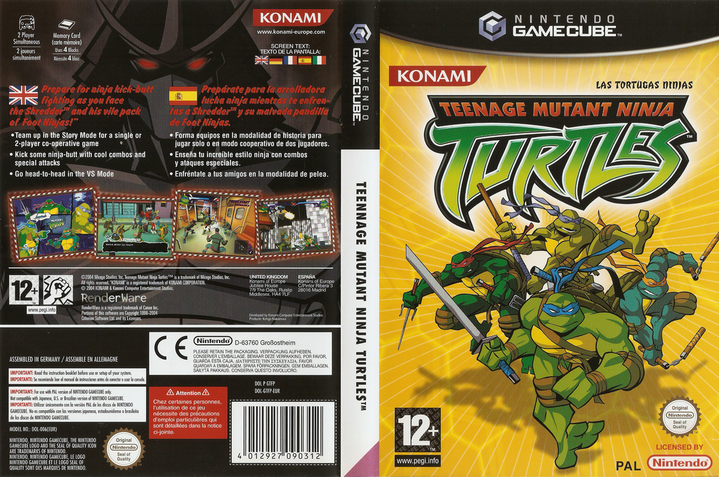 Teenage Mutant Ninja Turtles Wii coverfullHQ (GTFPA4)