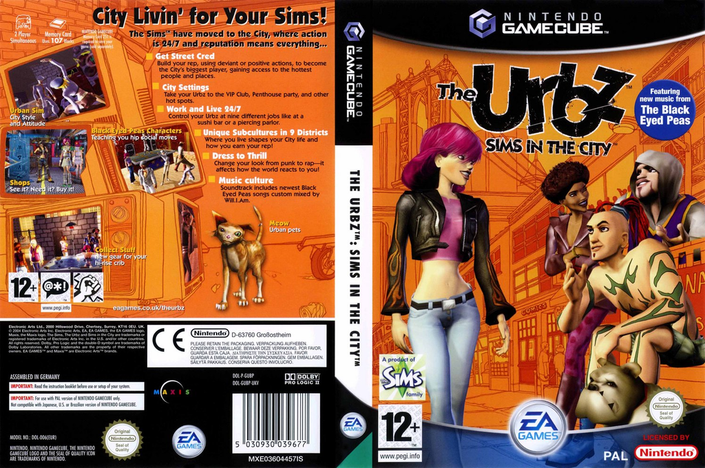 The Urbz: Sims In The City Wii coverfullHQ (GUBP69)