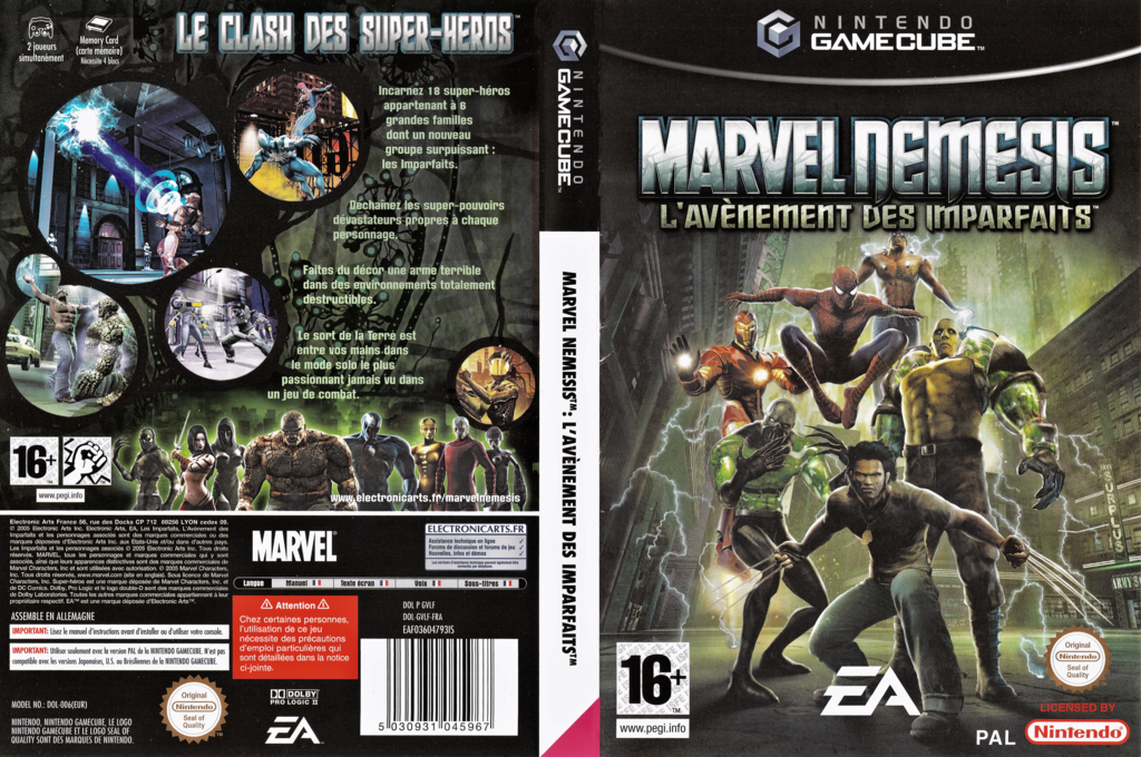 Marvel Nemesis: Rise of the Imperfects Wii coverfullHQ (GVLF69)