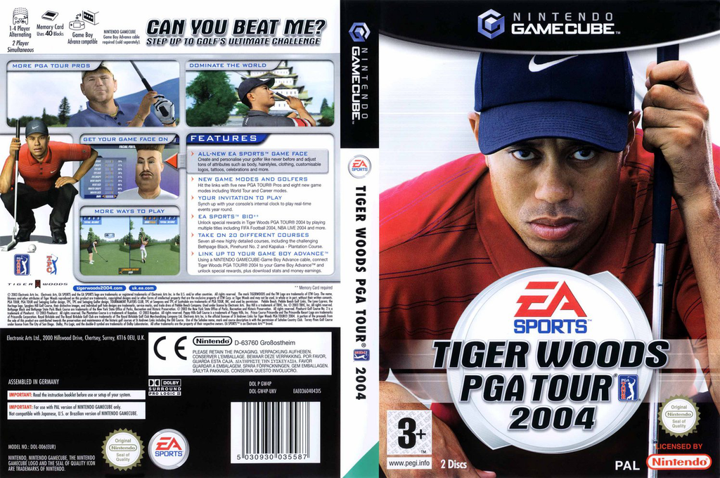 Tiger Woods PGA Tour 2004 Wii coverfullHQ (GW4P69)