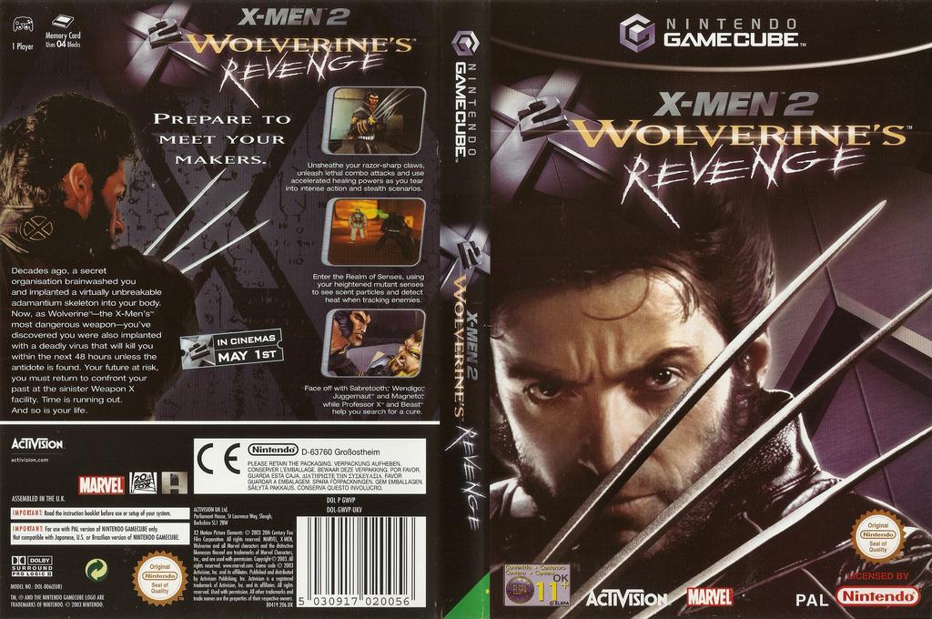 X-Men 2: Wolverine's Revenge Wii coverfullHQ (GWVP52)
