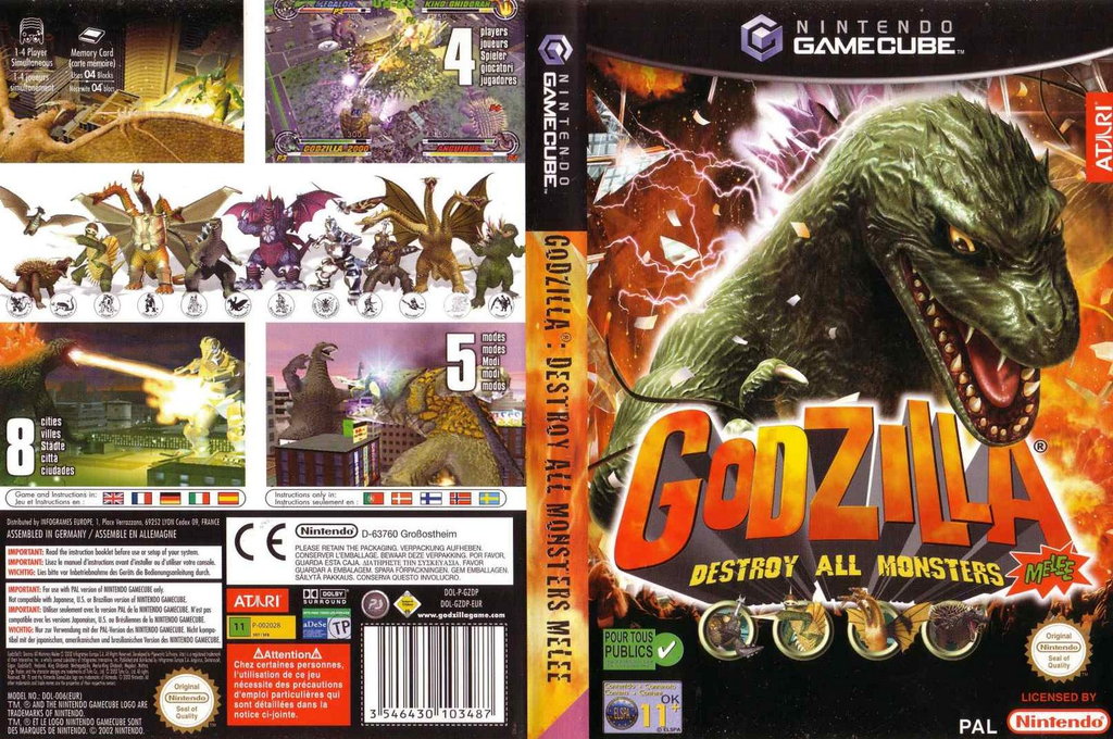 Godzilla:Destroy all Monsters Melee Wii coverfullHQ (GZDP70)