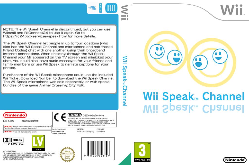 Wii Speak Channel Wii coverfullHQ (HCFP)
