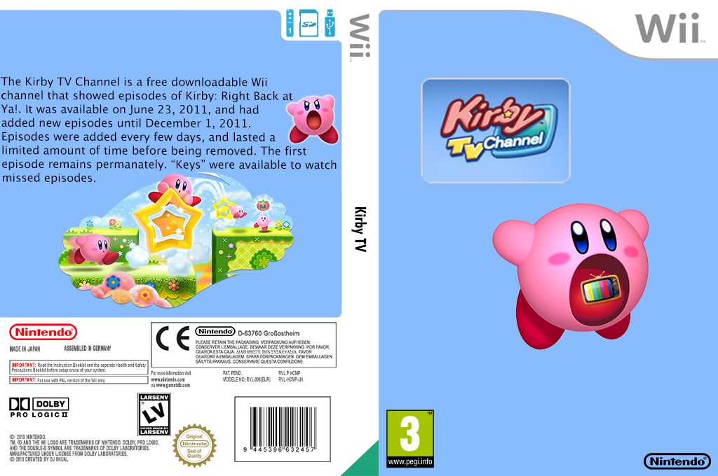 Kirby TV Channel Wii coverfullHQ (HCMP)
