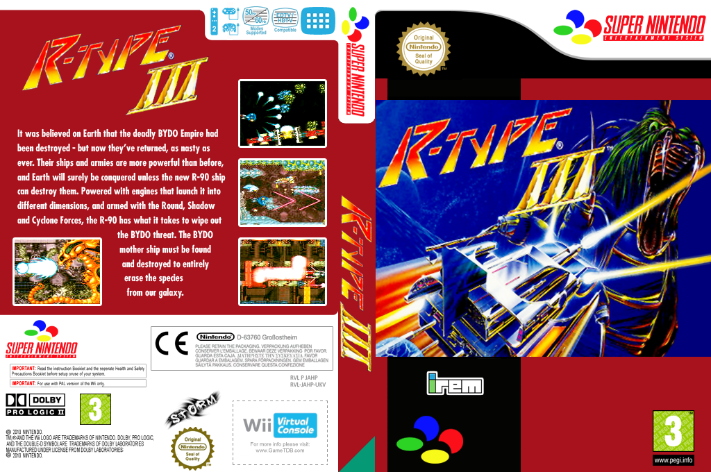 R-TYPE III: The Third Lightning Wii coverfullHQ (JAHP)