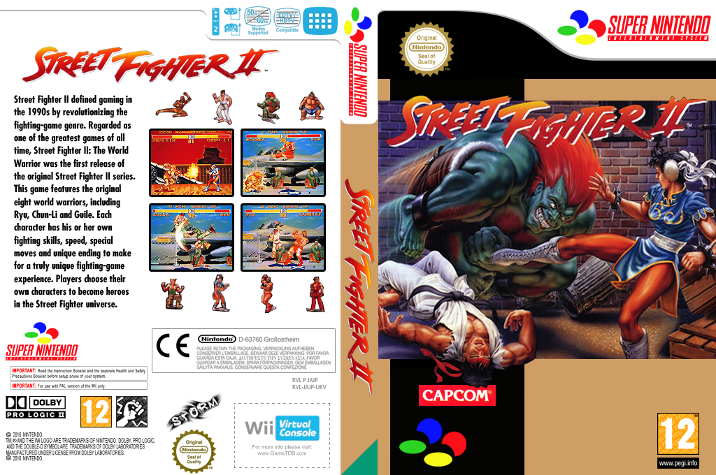 Street Fighter II: The World Warrior Wii coverfullHQ (JAJP)