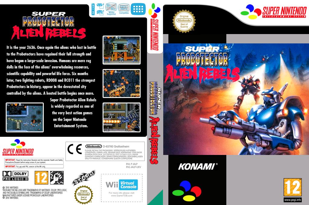 Super Probotector: Alien Rebels Wii coverfullHQ (JALP)