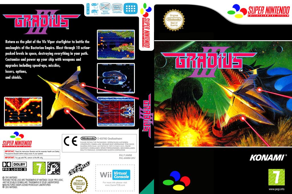 Gradius III Wii coverfullHQ (JAMM)