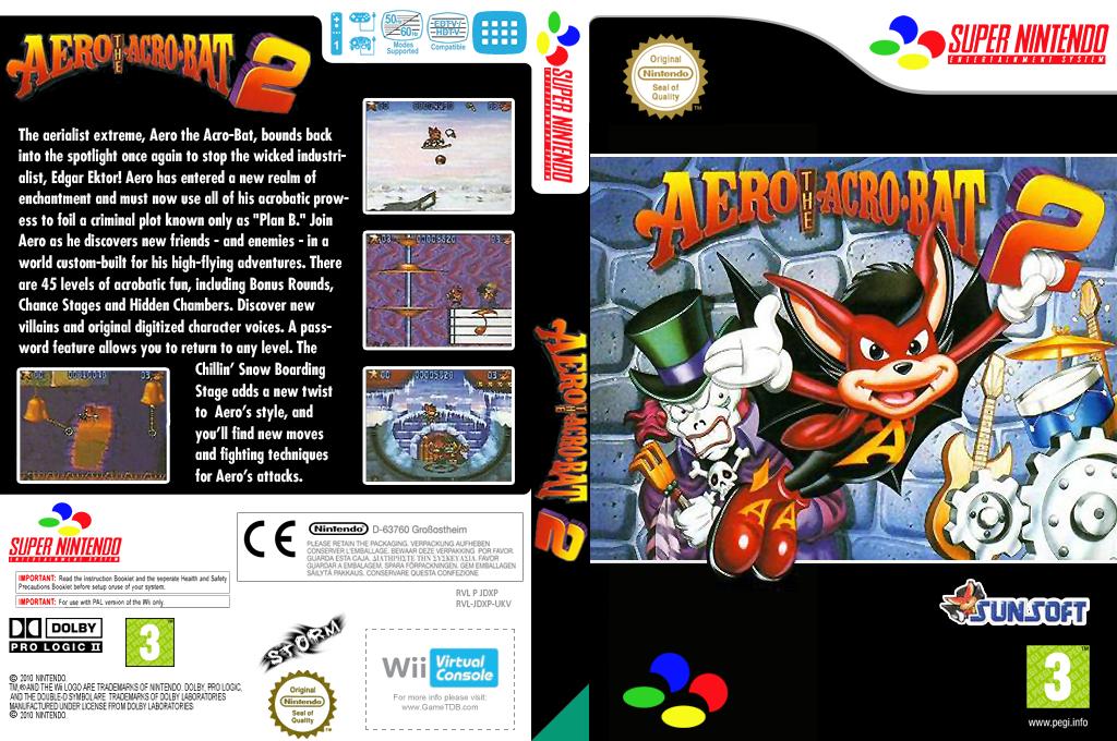 Aero the Acrobat 2 Wii coverfullHQ (JDXP)