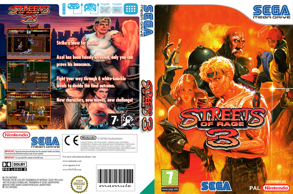 Streets of Rage 3 Wii coverfullHQ (MBQP)