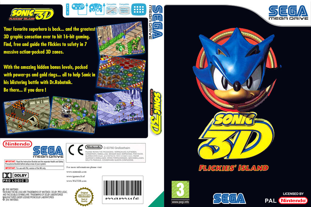 Sonic 3D: Flickies' Island Wii coverfullHQ (MBUP)