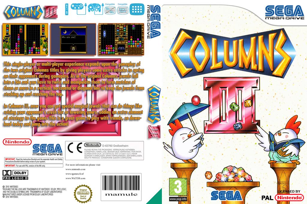 Columns III: Revenge of Columns Wii coverfullHQ (MBWM)