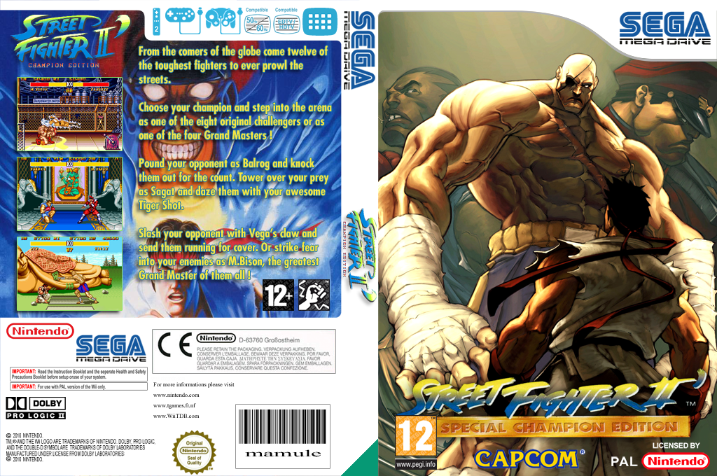 Street Fighter II': Special Champion Edition Wii coverfullHQ (MCLP)