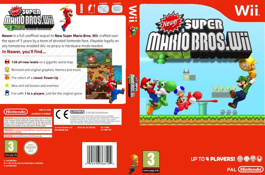 Newer Super Mario Bros. Wii Wii coverfullHQ (NWRP01)
