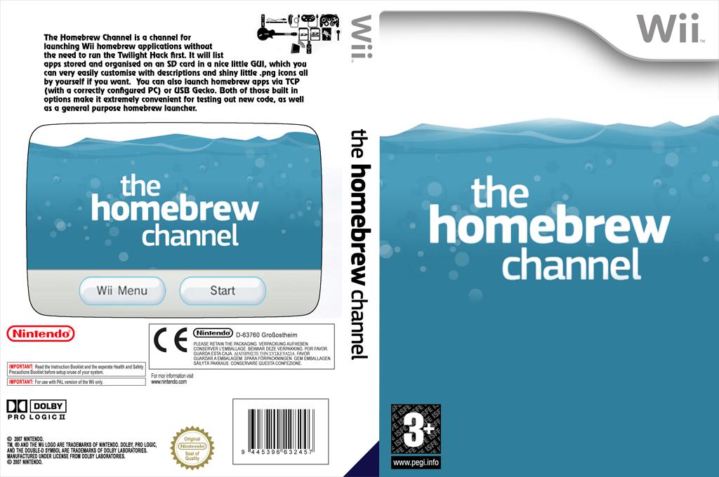Homebrew Channel Wii coverfullHQ (OHBC)