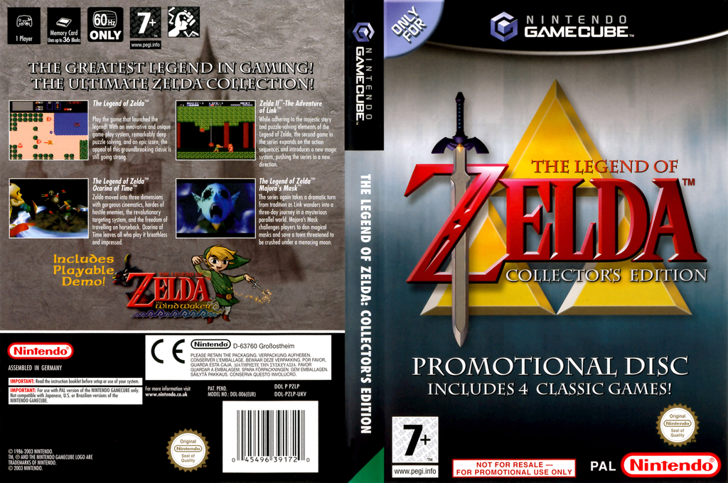The Legend of Zelda: Collector's Edition Wii coverfullHQ (PZLP01)