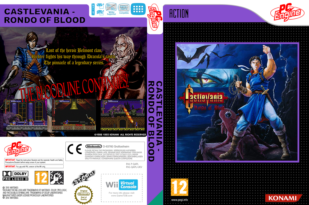 Castlevania: Rondo of Blood Wii coverfullHQ (QAPL)
