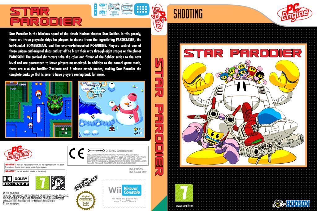 Star Parodier Wii coverfullHQ (QAWL)