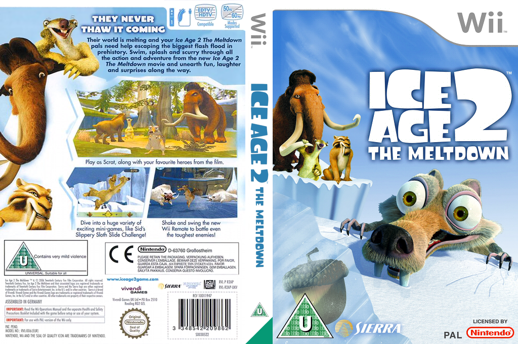 Ice Age 2: The Meltdown Wii coverfullHQ (R2AX7D)
