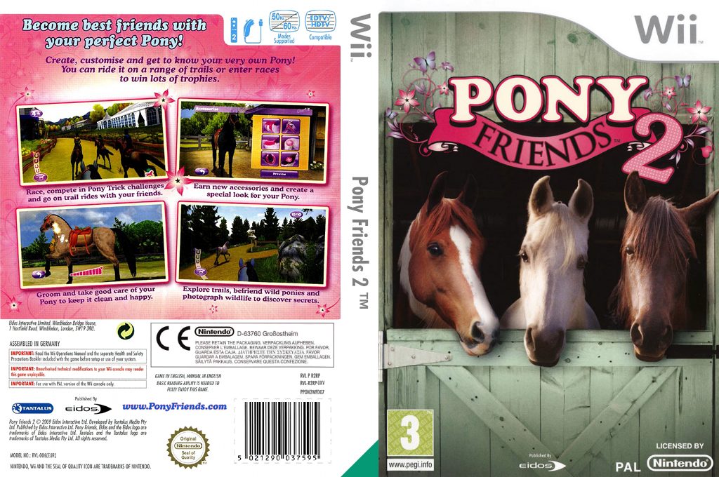 Pony Friends 2 Wii coverfullHQ (R2RP4F)