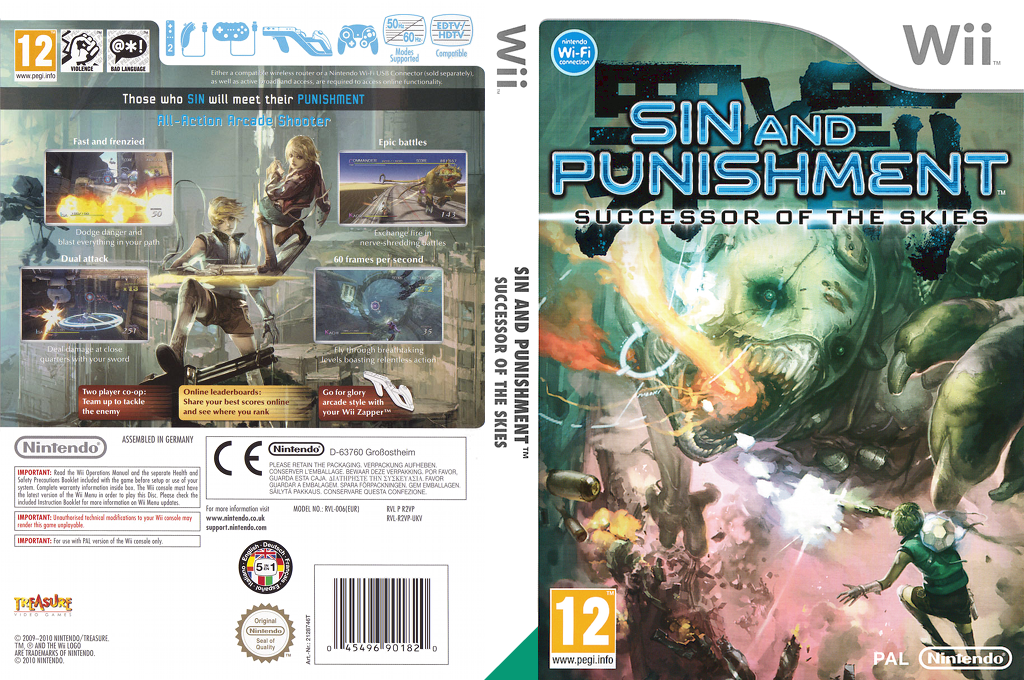 Sin and Punishment: Successor of the Skies Wii coverfullHQ (R2VP01)