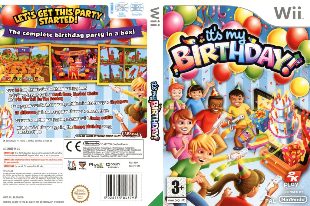 It's my Birthday! Wii coverfullHQ (R2YP54)