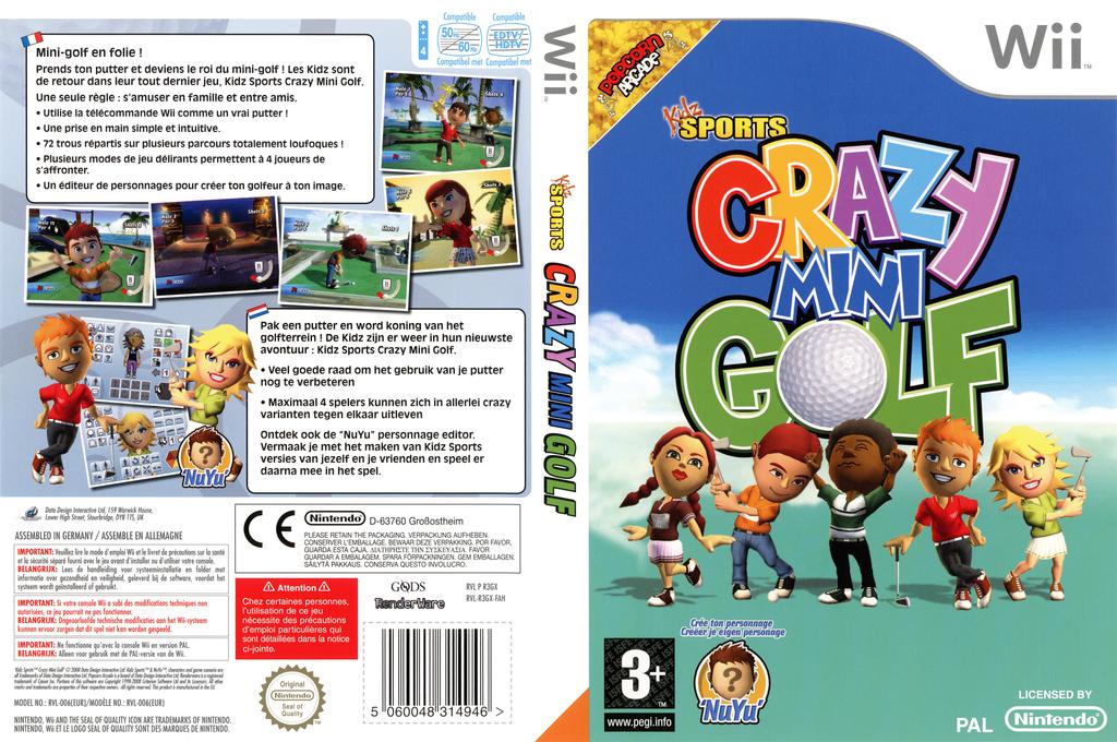 Kidz Sports: Crazy Mini Golf Wii coverfullHQ (R3GXUG)