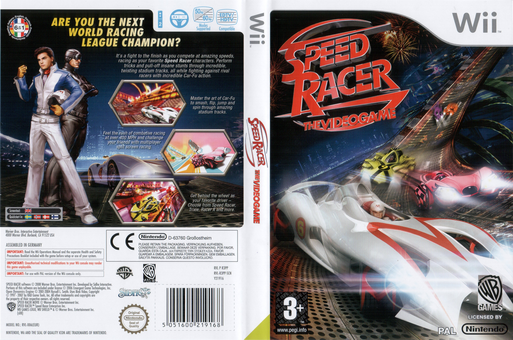 Speed Racer: The Videogame Wii coverfullHQ (R3PPWR)