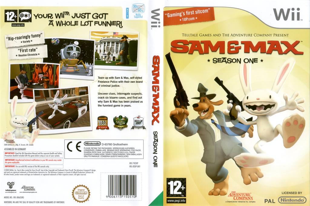 Sam & Max: Season One Wii coverfullHQ (R3XP6V)