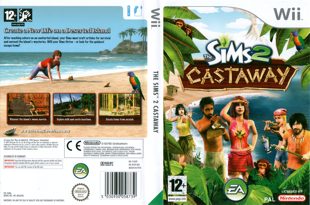 The Sims 2: Castaway Wii coverfullHQ (R42P69)