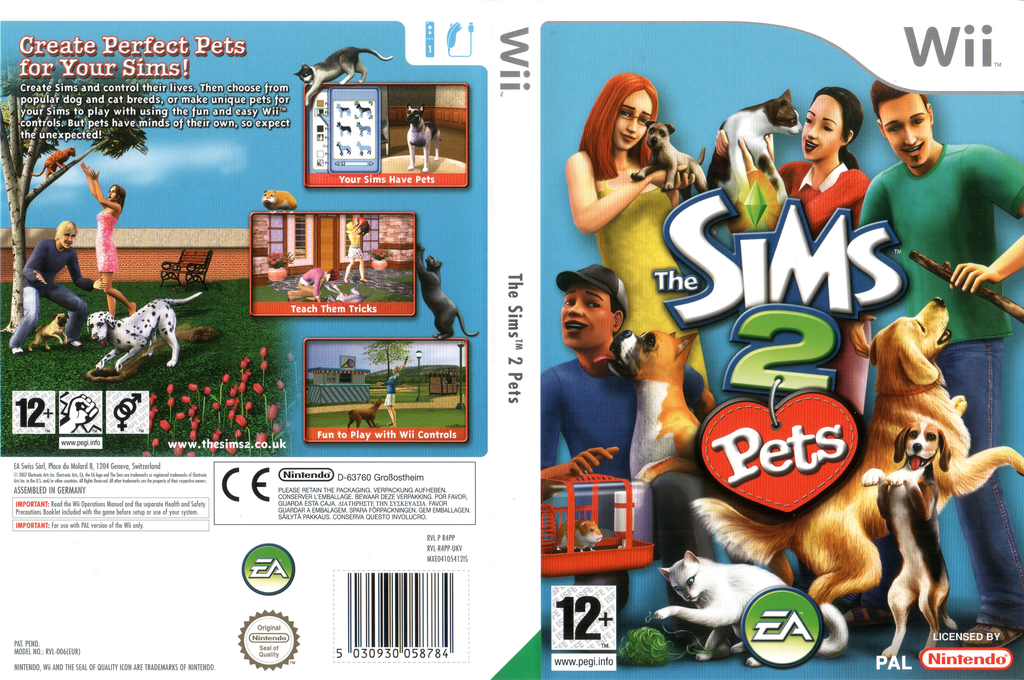 The Sims 2: Pets Wii coverfullHQ (R4PP69)