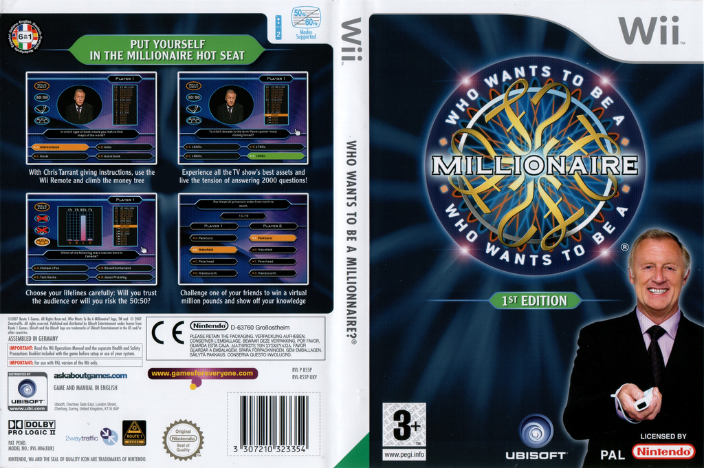 Who Wants To Be A Millionaire: 1st Edition Wii coverfullHQ (R55P41)