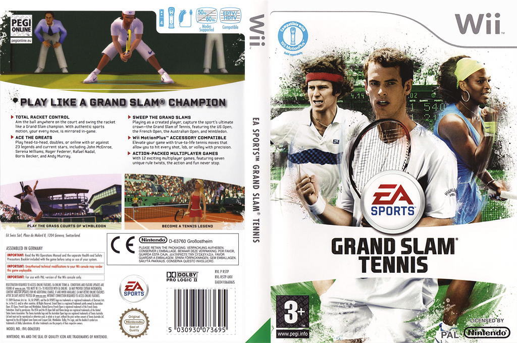 Grand Slam Tennis Wii coverfullHQ (R5TP69)